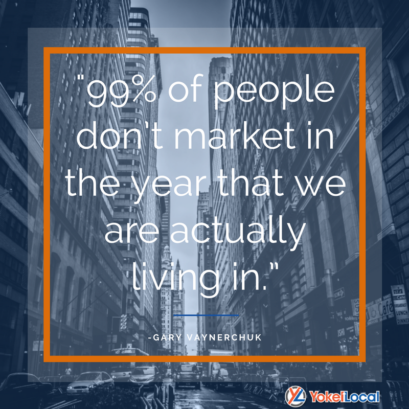 99% of people don't market in the year that we are actually living in