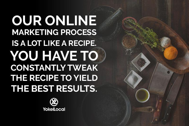 online marketing is like a recipe you always have to tweak