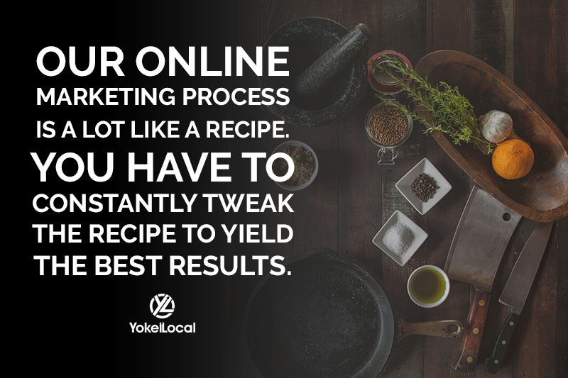 online marketing is like a recipe you always have to tweak