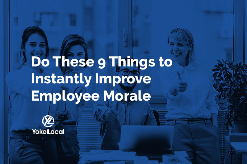 how to improve employee morale