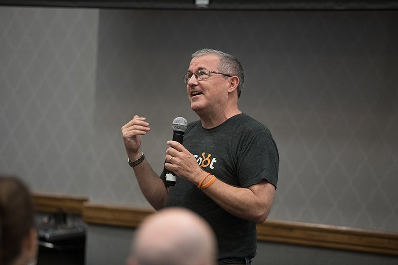 Dan Tyre of HubSpot speaking at get more customers academy live event