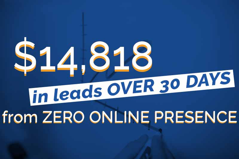 [CASE STUDY] $14,818 in Leads From NO Presence Online